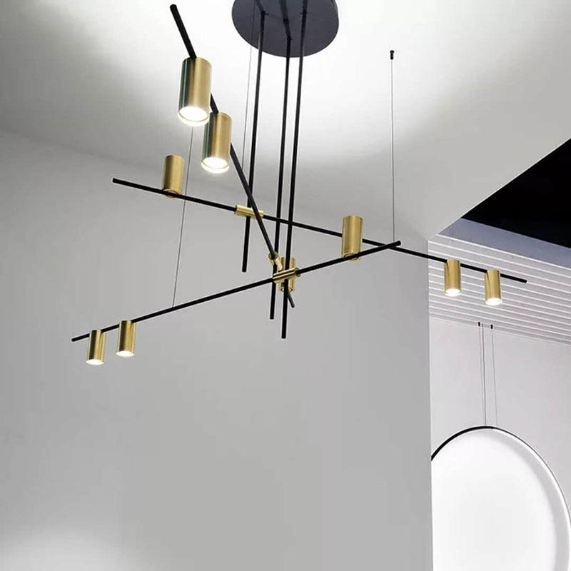 Lampe pendentif à ligne géométrique, en base de ligne géométrique, lampe moléculaire, magasin de vêtements de créateur, salon, éclairage de Bar de Restaurant, CA006