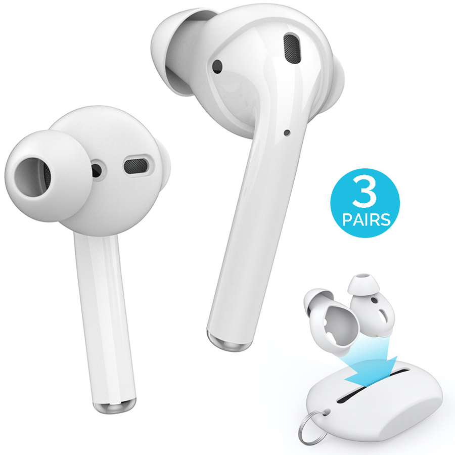 3 Pairs Silicone In ear Headset Earbuds Cover for Apple Airpods Earphone Case Eartips Storage Box Pouch for Airpods Accessories|Earphone Accessories| |  - title=