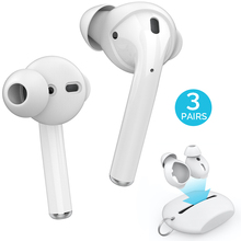 3 Pairs Silicone In-ear Headset Earbuds Cover for Apple Airpods Earphone Case Eartips Storage Box Pouch for Airpods Accessories wallytech cool noodle shape in ear earphone w 2 pairs earbuds white 3 5mm plug 120cm cable