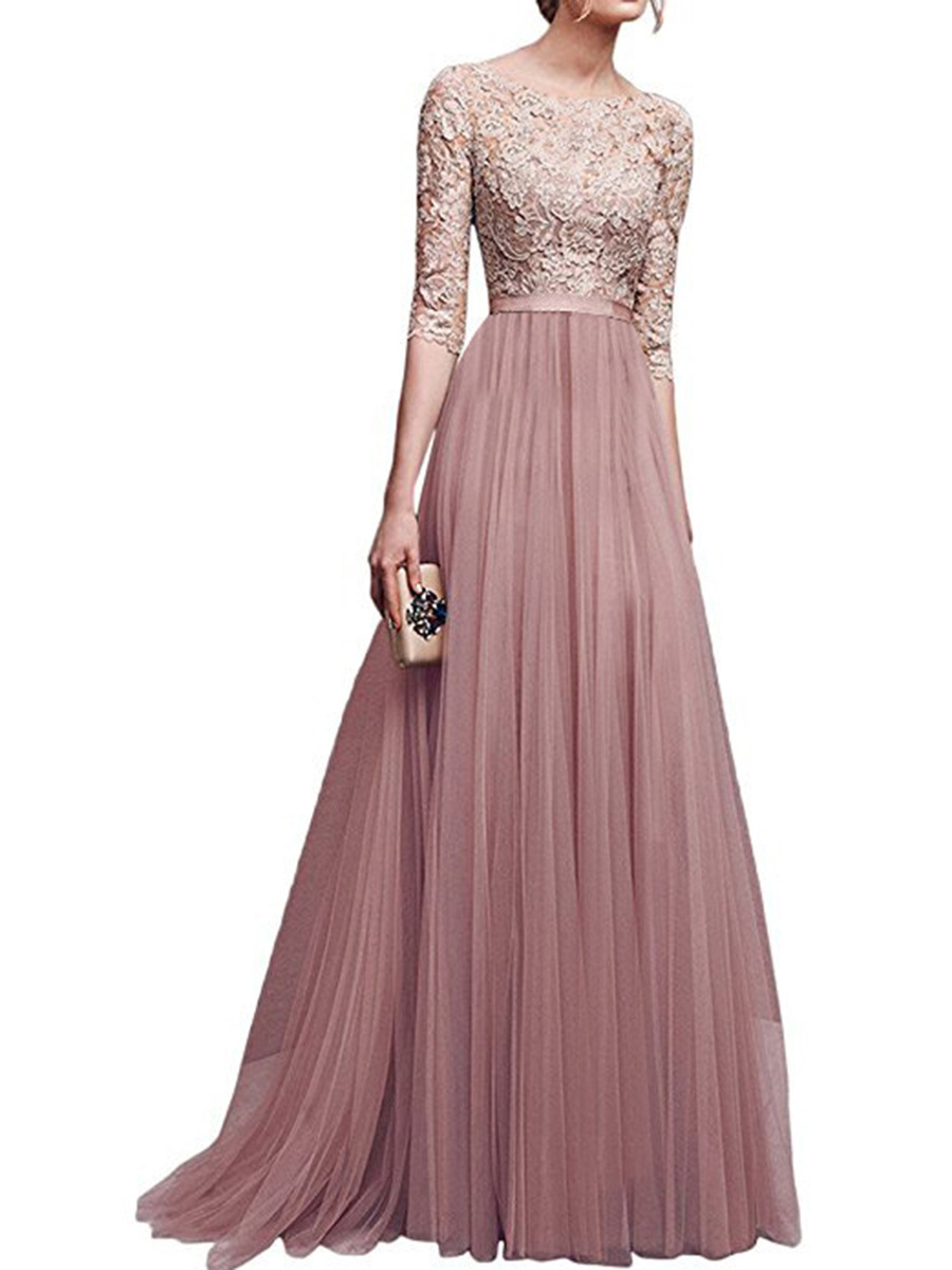 Fashion Dresses Accessories: Women Fashion Summer Autumn Lace Long Dress 2017 New