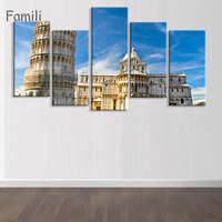 5pane Tuscany Italy Meadows Flowers Nature Landscape Living Room Home Wall Modern Art Decor Fabric Posters