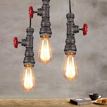Loft estilo industrial criativo individualidade retro restaurante bar fazer antigo única cabeça tubulação de água pingente lâmpada