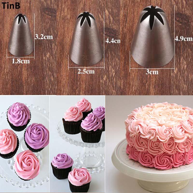 Aliexpress.com : Buy 3pcs Rose Flower Ice Cream Piping Tip ...