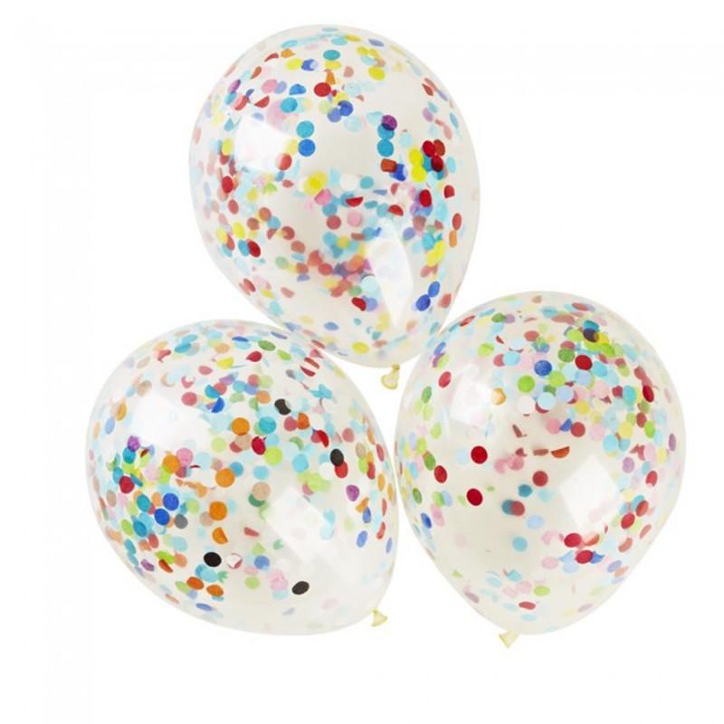 pulgadas grandes globos de confeti decoracin de la boda casamento claro globo letax suministros fiesta