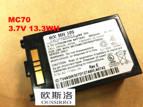 Replaces MOTOROLA MC70 MC75 FR68 MC7090 MC7004 82-71364-03 82-71364-05 Battery