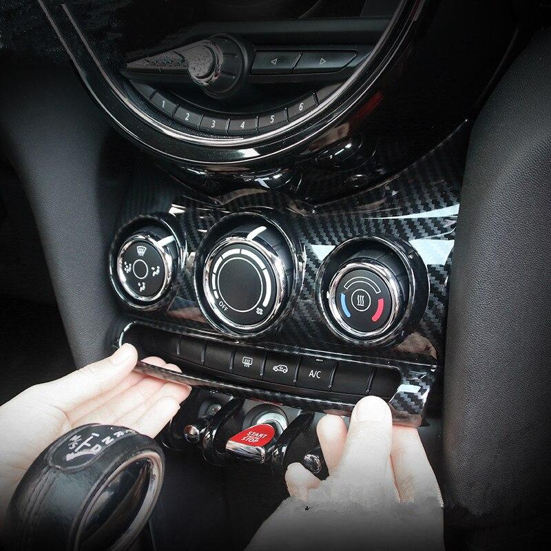 Auto Car AC Control Air Panel Cover Adhesive Sticker Decals Decor for MINI COOPER F55 F56 Interior StylingAuto Car AC Control Air Panel Cover Adhesive Sticker Decals Decor for MINI COOPER F55 F56 Interior Styling