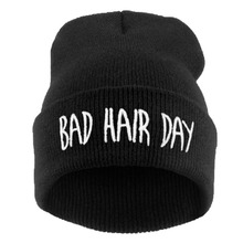 Winter Hat Men 21 Colour Bad Hair Day 2016 Fashion Casual Gorros Elastic Bonnet Skullies Knitted Hats For Women Beanies