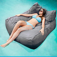 Pacific Grey Oversized Luxury Comfortably Accommodate Two Adults Float Beanbag Pool Floating Bean Bag Outdoor Furniture
