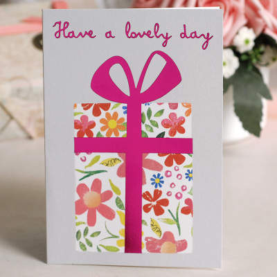 Online Shop Cute Birthday Cards Glitter Balloonsflower Cake Gift Greeting Card For Kidsfriends
