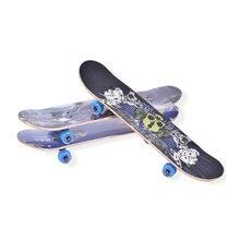 31.5 Inch Maple Wood Deck Skateboard Skate Board Double Rocker Road Street Longboard 4 Wheels Four-wheel Warped Plate
