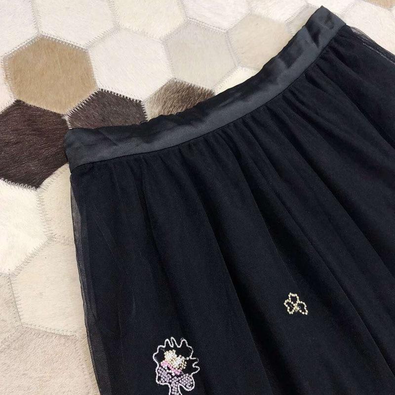Brodée 2019 Femmes Pour Mode De Dames En Taille Haute A Jupe Longue D'été Nouvelles Coupe Les fqZIwqC7