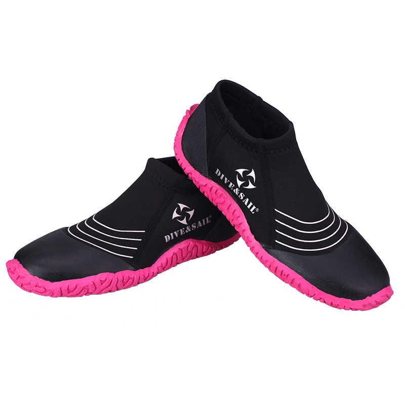DALıŞ ve YELKEN Flipper Bayanlar Erkekler Su Sporları Sörf Dalış Jetski Neopren 3mm Plaj Wetsuit Botları dalış ayakkabı nehir trekking şnorkel