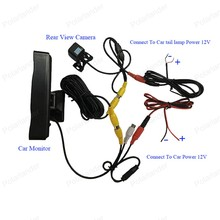 2 VA input 4.3 inch TFT LCD Car Monitor with  reverse parking camera