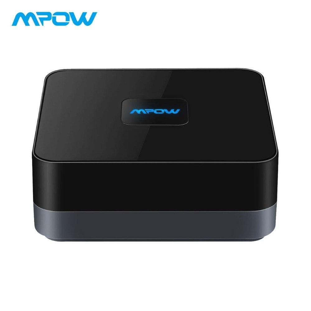 MPOW inalámbrico Bluetooth 4,1 adaptador de receptor de Audio 3,5mm Cable RCA con sonido estéreo de alta fidelidad y batería incorporada para el hogar
