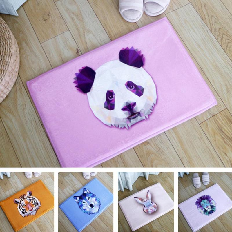 1pc Cartoon Floor Mats Animal Flannel Anti-slip Carpet Living Room Hallway  Puzzle Carpets Doormat Mat Decoration Accessories A35 b9fd93cefc