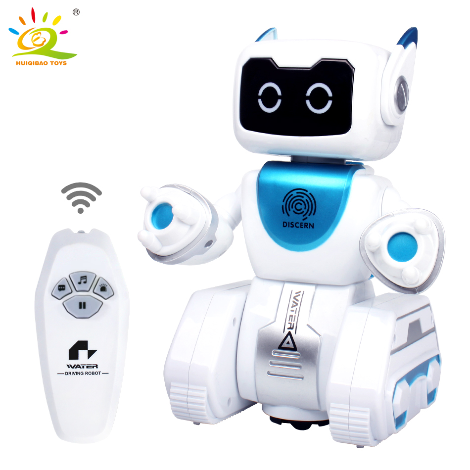 HUIQIBAO TOYS Smart RC music Walking Robot remote control electric action figures intelligent humanoid toys for children boy