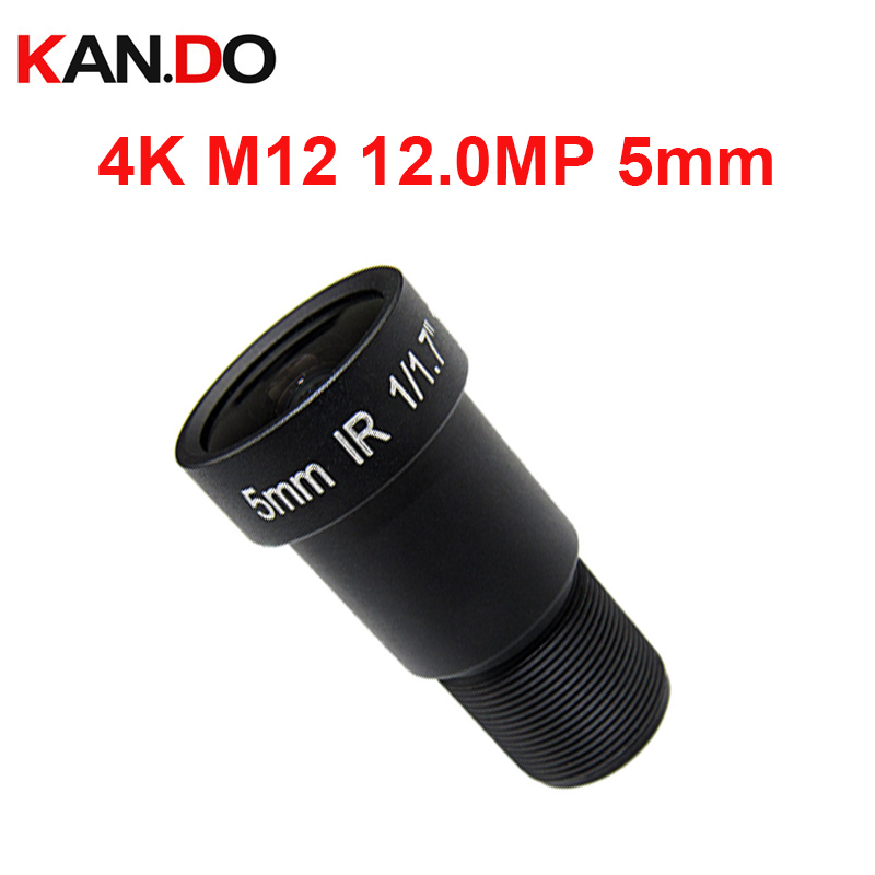 m12 4k lens 12MPl 5mm Lens 4K Lens 1/1.7 CCTV MTV Board IR M12 Lens F2.0 for HD Security Camera CCTV IP Cameras Action camera