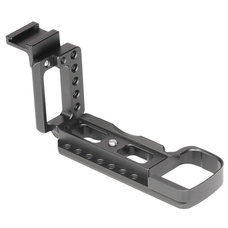 Vertical Shoot Hand Grip With Hot Shoe For Ilce6400L 6400M A6400 Quick Release L Plate Camera Bracket Holder