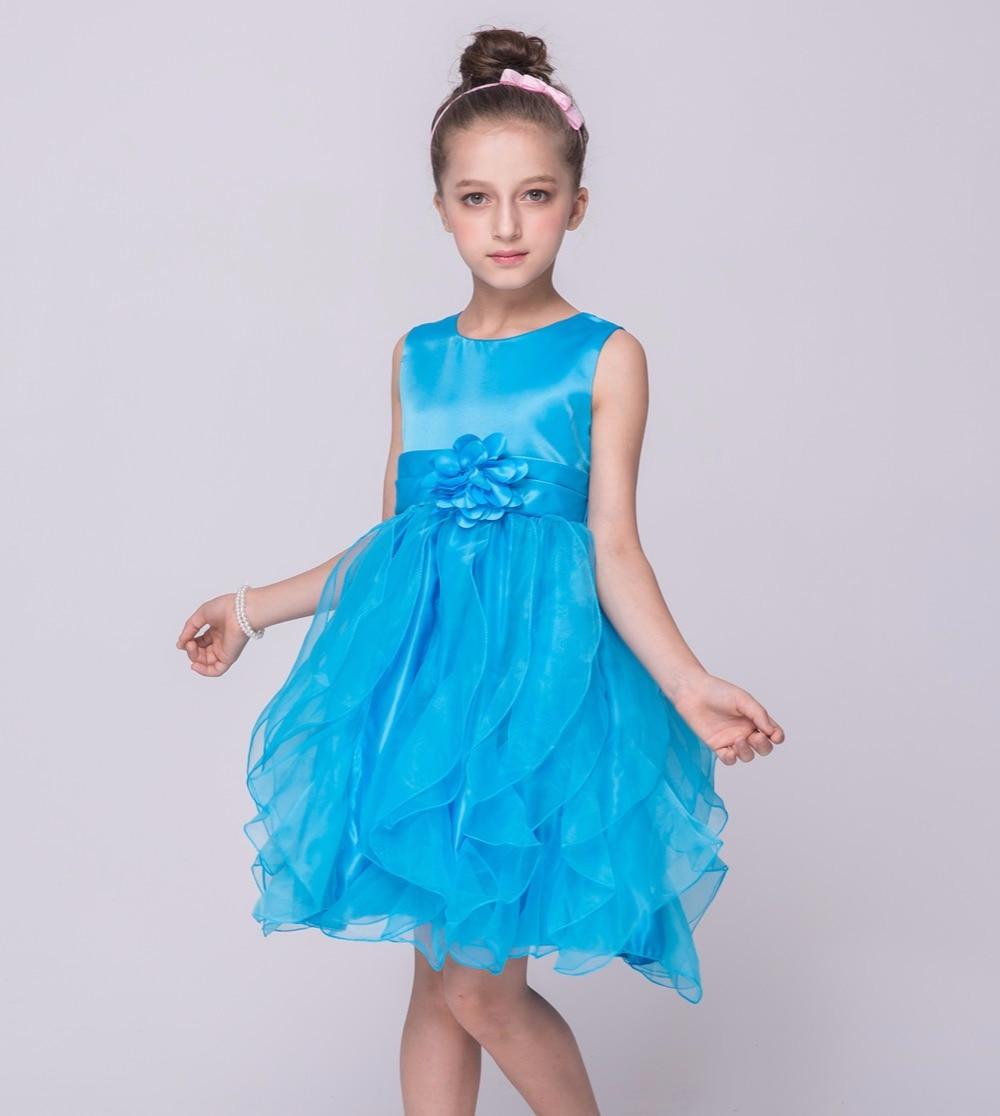2017 New Baby Girls Floral Dress Girl Cotton Summer Princess ...