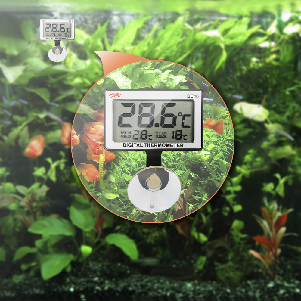 Stainless Steel Aquarium Heater with LCD Digital Thermometer Heating Rod Thermostat Fish Tank Adjustable Temperature Controller