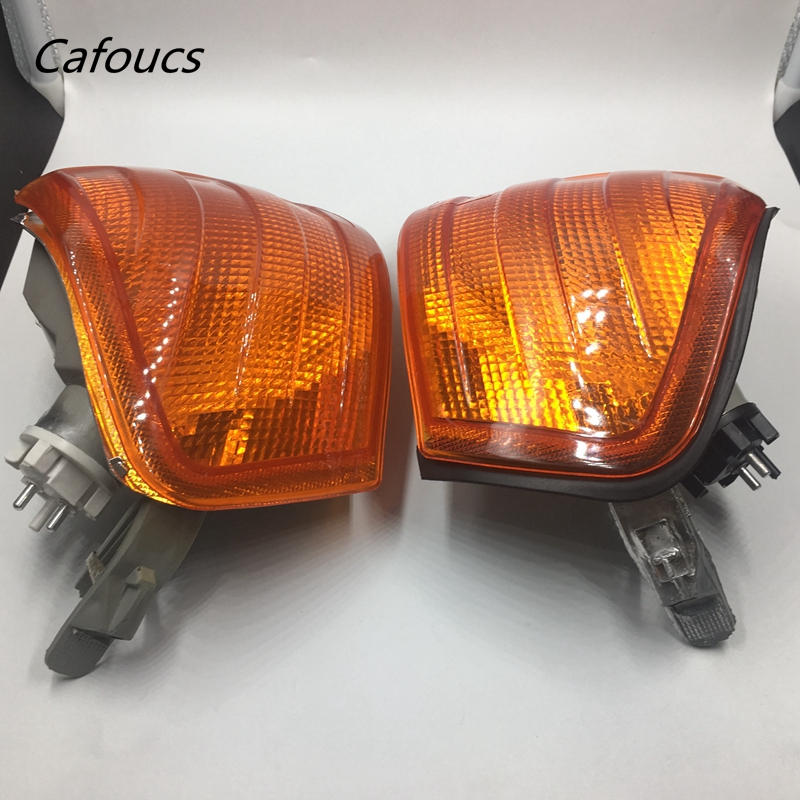 Cafoucs Front Left Right Side Yellow Corner Lights Signal Lamps For Mercedes Benz W202 C-Class A 2028260943 2028261043 auto fuel filter 163 477 0201 163 477 0701 for mercedes benz