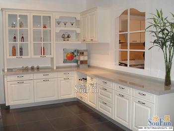 PVC/vinyl kitchen cabinet(LH-PV002)