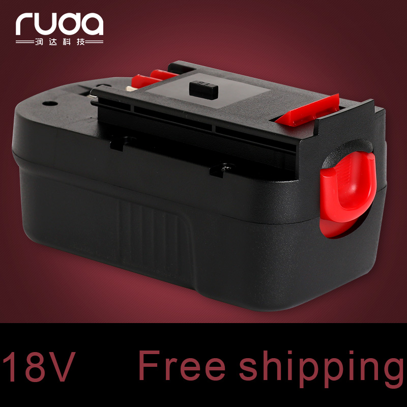 for Black&Decker 18VB 3300mAh power tool battery FSB18,BD1834L,BD-1834L,B-8317,BPT1049,FSB 14,A18,HPB18,FS180BX FS18JV FS18SBX power tool battery bos 14 4va 3300mah 2607335264 2607335276 2607335528 2607335534 bat038 bat040 bat041 bat140 bat159