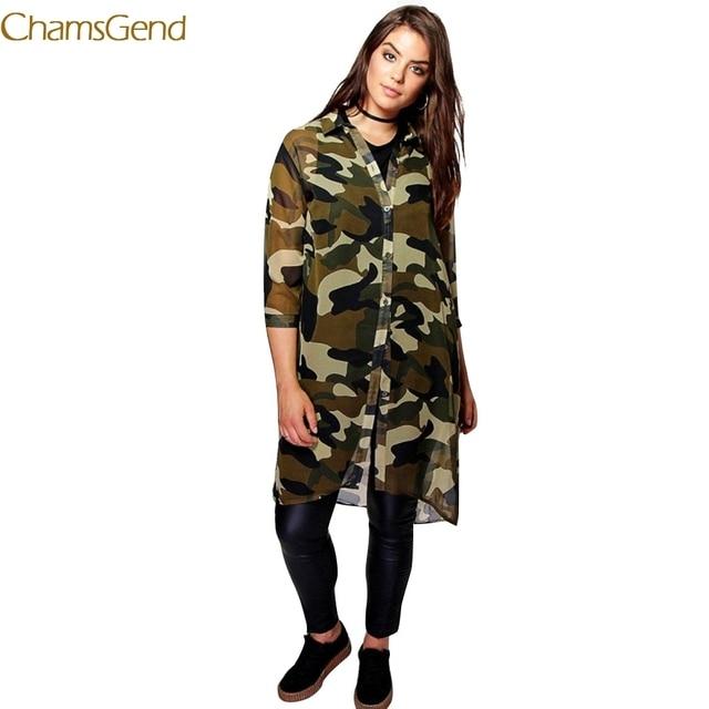 aliexpress : buy 2017 plus size women chiffon camo camouflage