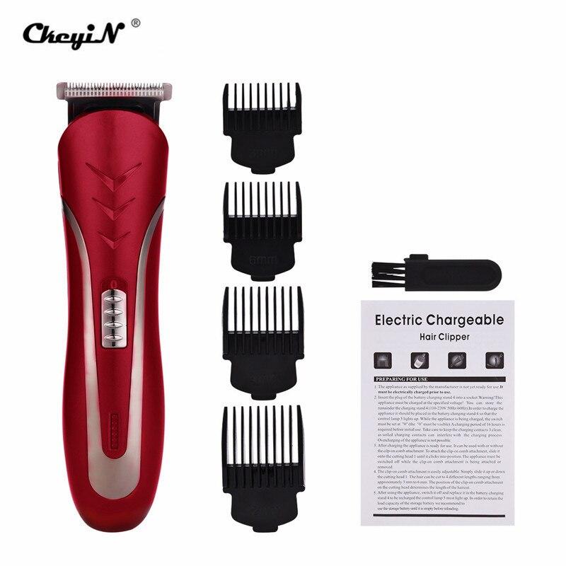 3/6/9/12mm Limite Pente máquina de Cortar Cabelo Homens De Aço ao Carbono Cabeça Shaver Recarregável Trimer Elétrica cortador de barba Cabelo Navalha Trimmer P42