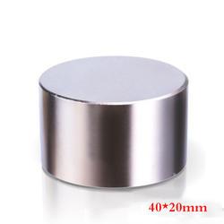 1 шт. N42 неодимовым магнитом 40x20 мм Галлий очень сильные магниты 40*20 круглый магнит мощный постоянный магнитная