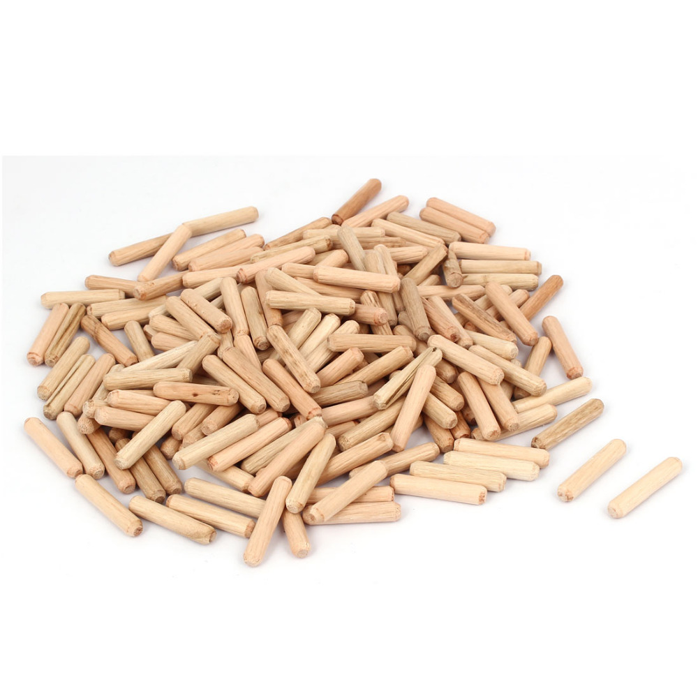 200 Pcs/lot Cabinet Drawer Round Fluted Wood Wooden Craft Dowel Pins 6mm Diameter 30mm Length High Quality