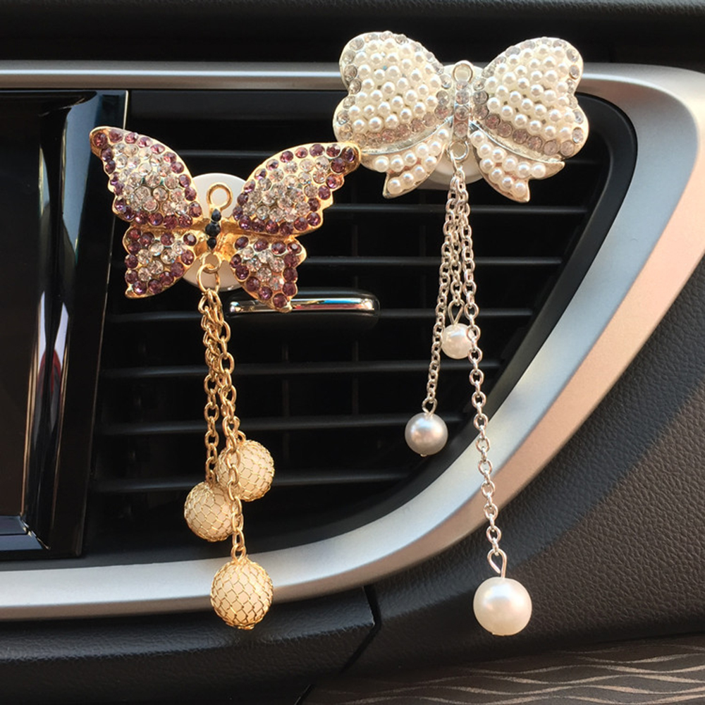 Car Ornaments Crystal Diamond Swan Air Freshener Car Air Vent Perfume Solid Fragrance Clip Fashion Auto Interior Decoration Gift Excellent Quality Ornaments