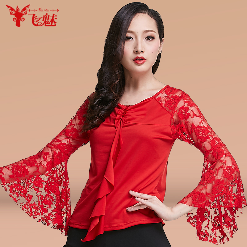 e96561036db Modern dance long sleeved lace blouse adult GB ballroom dancing garment Square  Dance  Latin Dance tops-in Latin from Novelty   Special Use on  Aliexpress.com ...