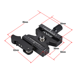 """Image 4 - Andoer CL 50LS  Quick Release Clamp w/ Adjustable Lever Knob Type 1/4"""" & 3/8"""" Screw Hole Compatible for Arca Swiss Standard"""