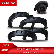 цена на Fender Flare For Toyota Hilux Accessories Black Color Mudguards For Toyota Hilux Vigo 2005 2006 2007 2008 2009 2010 Car Parts