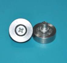 Diameter:22mm M6 Thickness:7mm Stainless steel bearing pulley roller Screw rod Drawer pulley цена