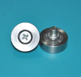 4Pieces/Lot Diameter:22mm M6 Thickness:<font><b>7mm</b></font> Stainless <font><b>Steel</b></font> Bearing Pulley Roller Screw <font><b>Rod</b></font> Drawer Pulley image