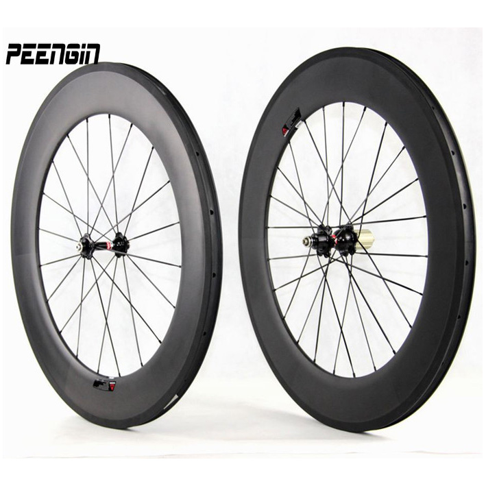 hand build cheap-road-bike-wheels carbon fiber wheelset for sale tubular aro clincher rim cycle parts S80 sticker can be offered набор вешалок aro деревянные
