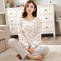 Women Gift Adult Flannel Pajamas Sets mujer Adults Cartoon Thick Warm Women Pyjama Sets Sleepwear For Ladies Female Nightwear