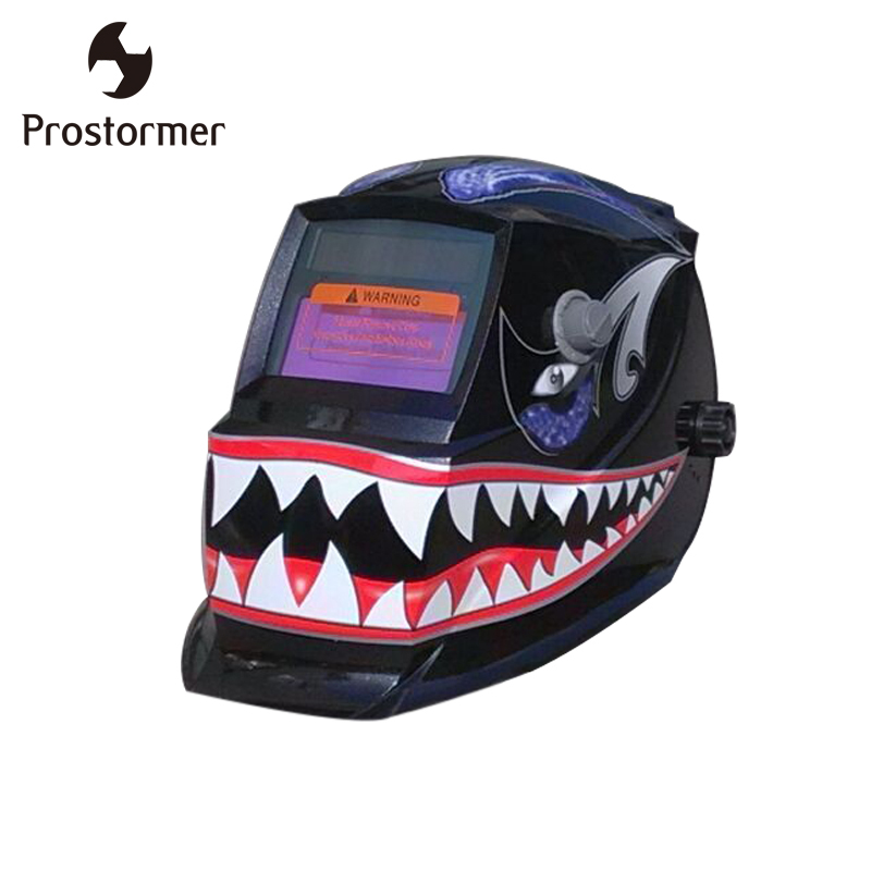 купить ProstormerShark Solar Auto darkening TIG MIG MMA Electric Welding Mask Helmet Welder Cap Lens for Welding Machine PlasmaCutter по цене 1855.65 рублей