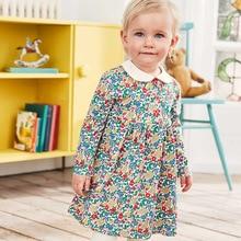 Little maven kids girls fashion brand autumn children's dress baby girls clothes Cotton flower print toddler girl dresses S0519