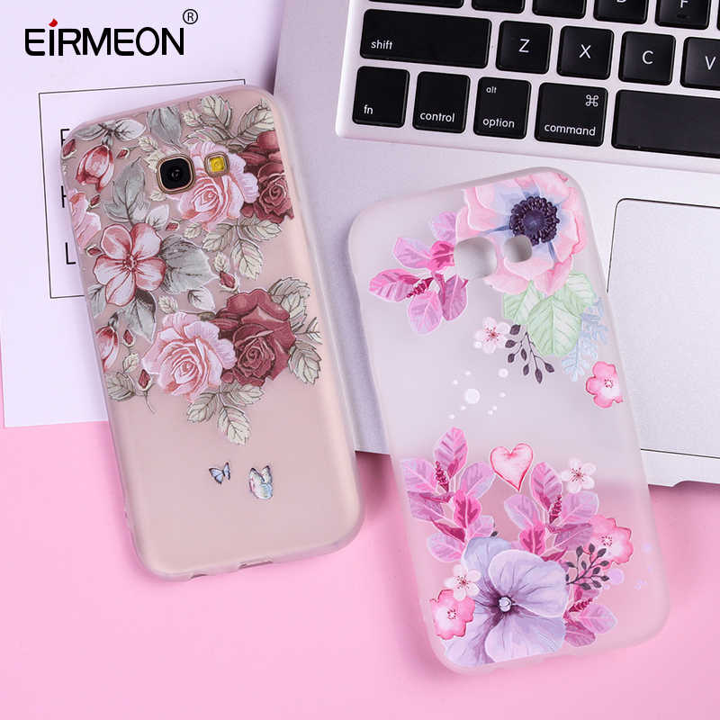 3D Relief Case For Samsung Galaxy A5 2017 S8 S7 Edge S9 S10 Plus J3 J5 J7 A3 A5 A7 2017 A7 A8 A6 Plus A30 A50 2018 Silicone Capa