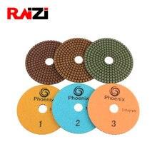 Raizi 3 шт 100 мм лучший набор полировальных колодок из гранита
