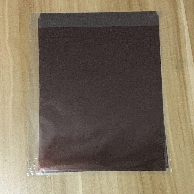 50 шт. золотой черный красный горячего тиснения фольги бумажный ламинатор для ламинирования переноса на элегантность лазерный принтер бумага для рукоделия 20x29 см A4 - Цвет: Brown