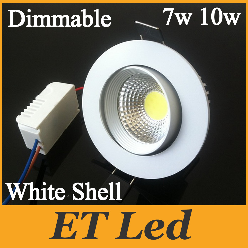 Newest Design Diameter 85mm CREE 7W 10W COB LED Downlight Tiltable Fixture Recessed Ceiling Bedroom Down Lights Lamps CUL UL CE