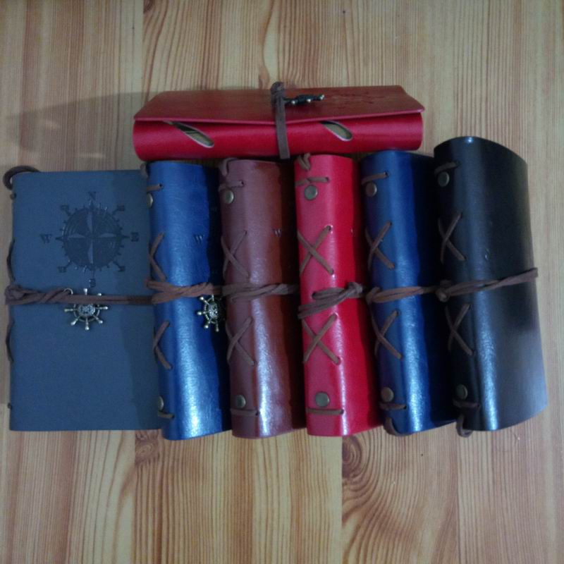 50 pcs 10 14 5 cm vintage leaf faux Leather pirate cover travel journal notebook