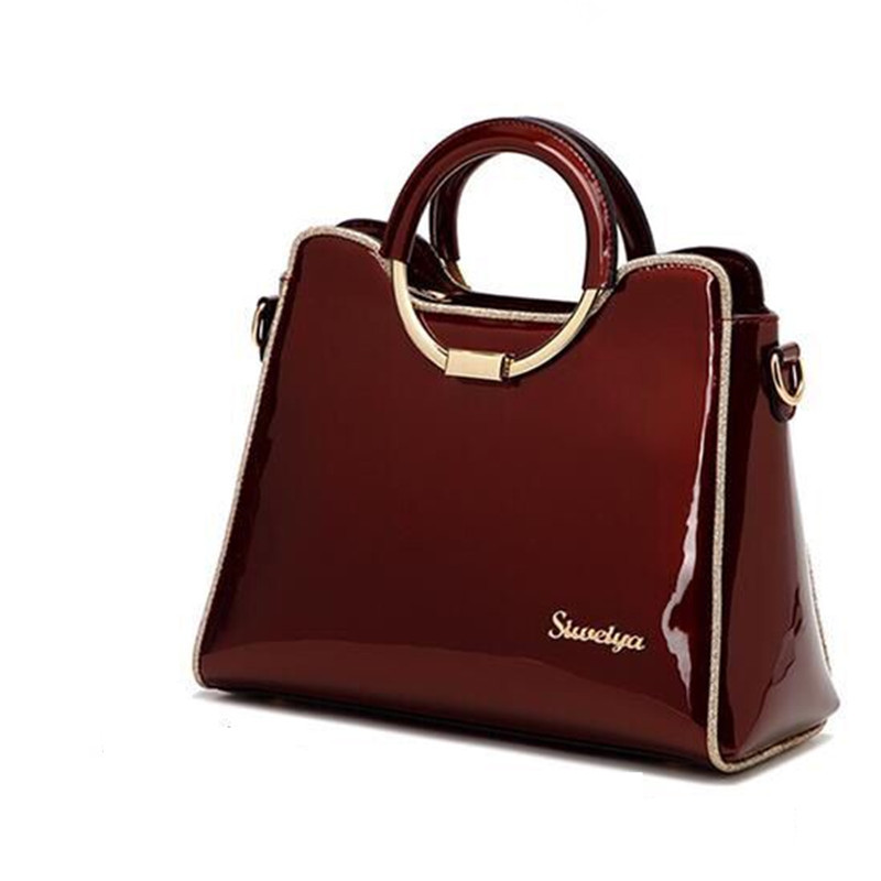 2018 luxury handbag women bag designer high quality patent leather women bag of famous brands bridal bag ladies messenger totes new design women leather handbag genuine leather bag handbag sheepskin women famous brands designer high quality top handler bag