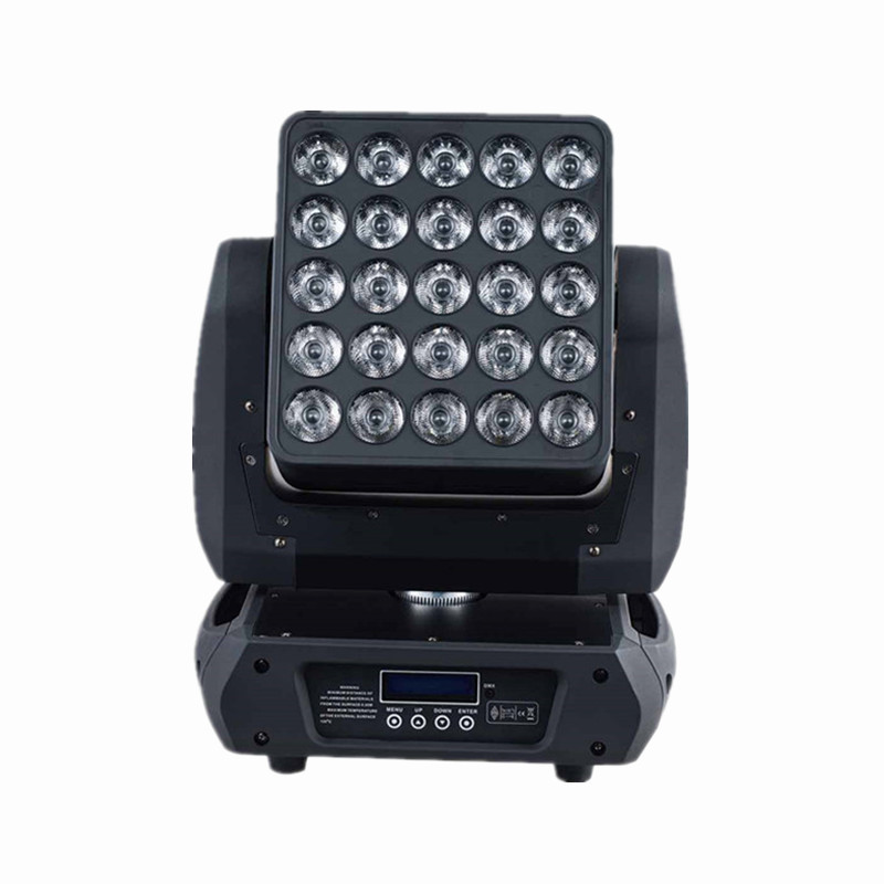 Professional lighting 25pcs*12W 4 in 1 rgbw led matrix moving head beam wash dmx dj stage light led blinder move head lights 19 12w high power led rgbw wash light 16 channels ac90 240v moving head light professional stage