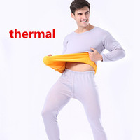 Mens Thermal Underwear Set Top And Pants Long Johns Men Cotton Warm Clothing Autumn Winter Fleece
