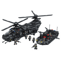 2019 Military Army War Special Police Force CH 47 Chinook Helicopter Building Block Sets Bricks Model Kids Toy Compatible Lepine